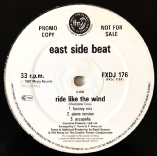 "East Side Beat ‎- Ride Like The Wind (12"") (Promo) (G++/G-VG)"